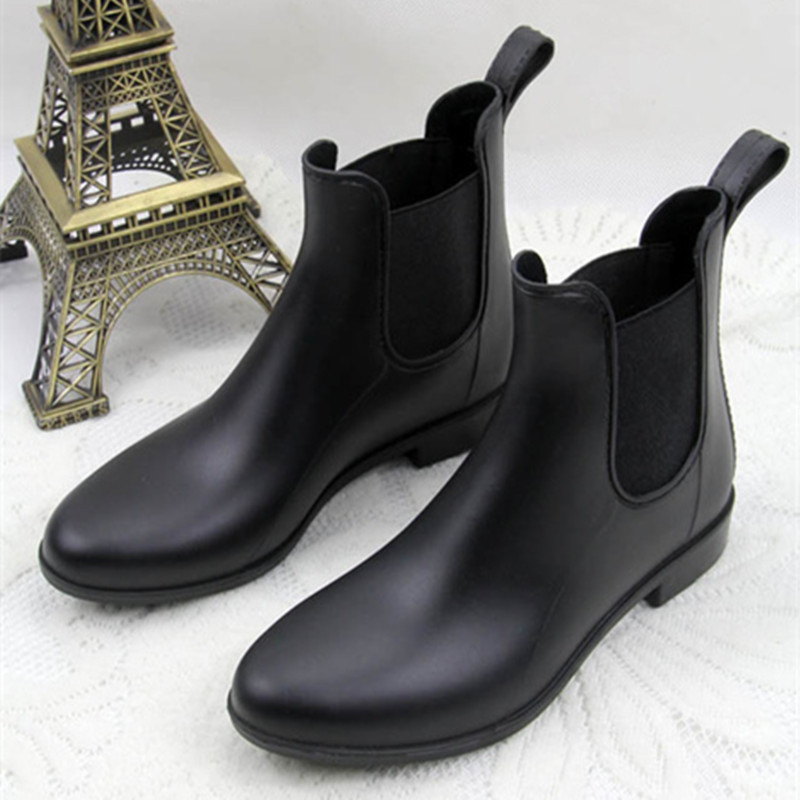 High Quality Rain Boots 2016 Waterproof Fashion font b Women b font Ankle Rubber Boot Elastic
