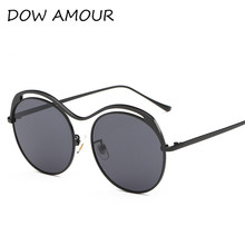 Brand Designer Sunglasses Men Women Steampunk Vintage Sun glasses Big Frame Fashion Glasses Top Quality Round Eyeglasses UV400