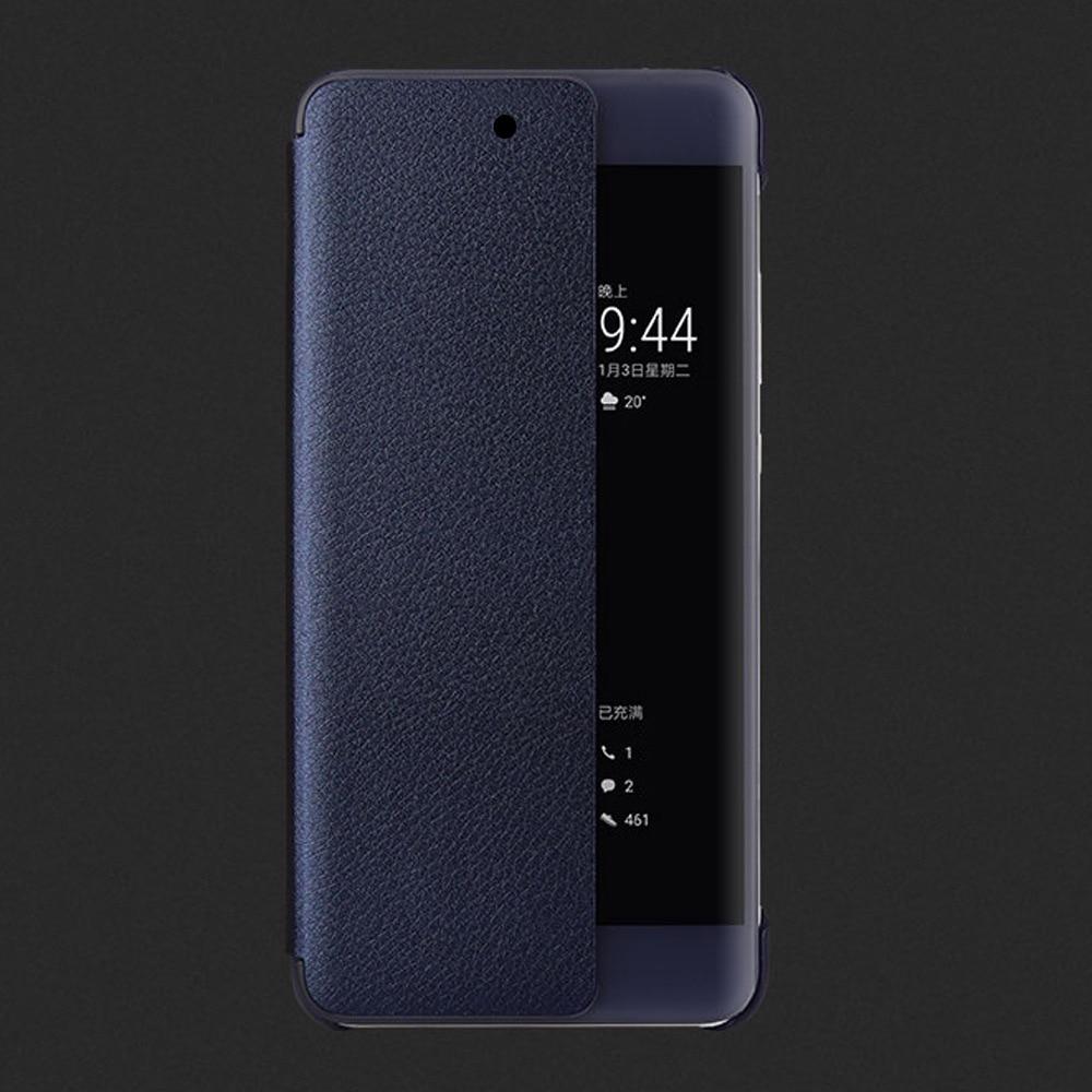 PU Leather Hard Window View Flip Case for Huawei P10 P20 P30 Pro lite Mate 20 Lite Mate 30 Pro 2