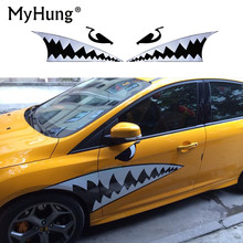 125cm*95cm Diy Car Styling accessories car body 3D Shark Mouth Waterproof decals sticker car scratch cover(China)