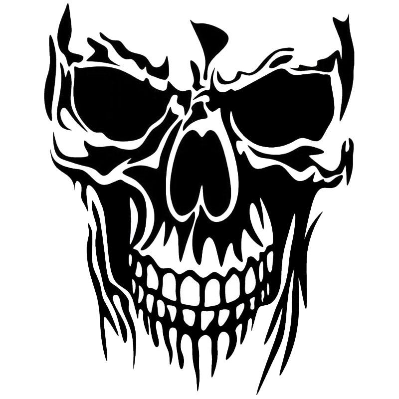 2228cm Funny Personality Skull Car Sticker Fashion Classic