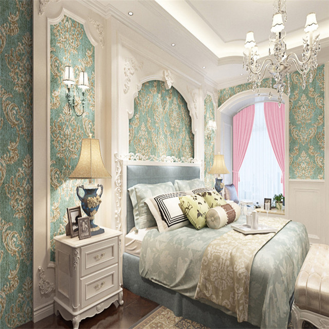 Custom Photo Wallpapers Texture Metallic Damask Wallpapers For Living Room  Bedroom Walls Papers Home Decor Flowers