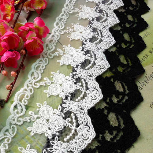 5yrds Lot 80mm Lace Ribbon Embroidered Decorations DIY Fabric Sewing Accessories