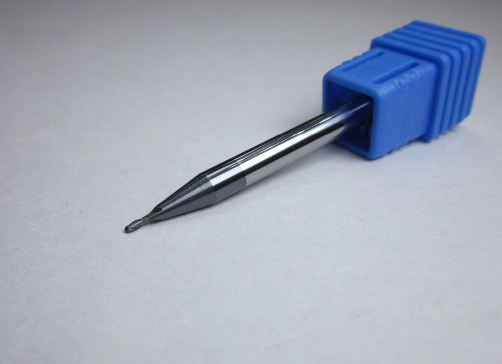 5PCS diameter 1mm  HRC45 Carbide Ball Nose EndMill milling cutter R0.5 for steel