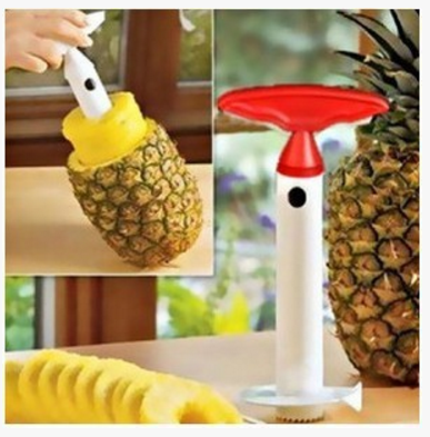 free shipping Plastic pineapple knife peeling device cut fruit device pineapple eye DIY tools  Stainless Steel Blades