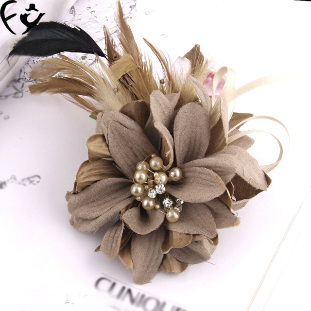 Корсаж невесты цветок брошь ткань моделирования FY18111503