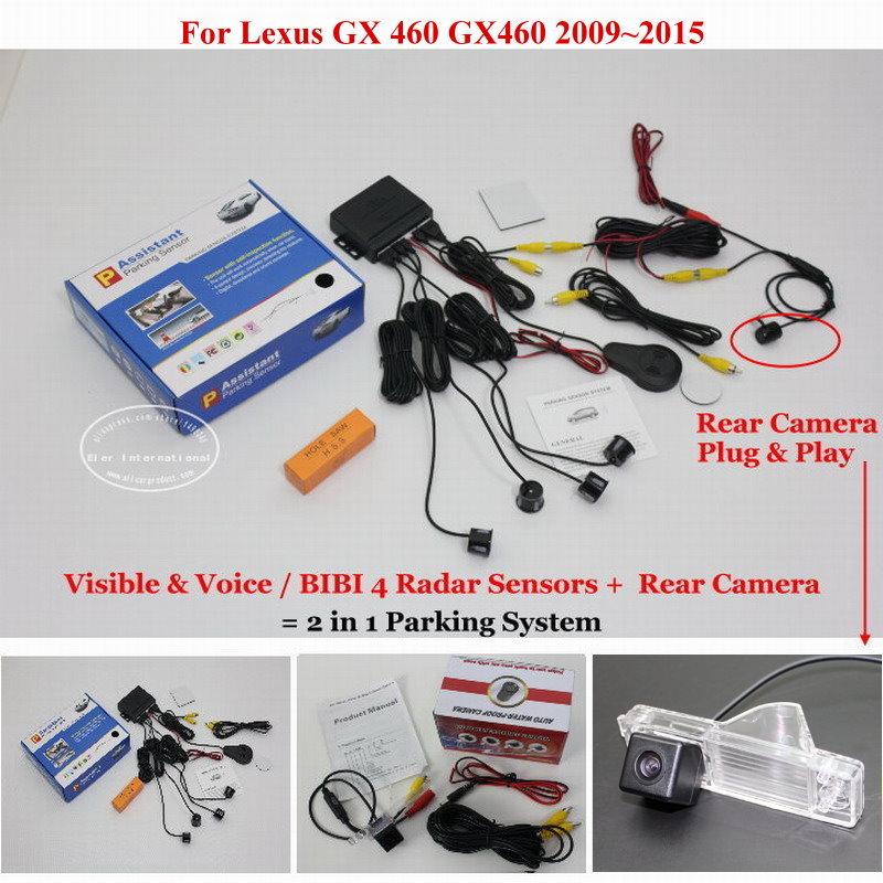 ФОТО For Lexus GX 460 GX460 2009~2015 - Car Parking Sensors + Rear View Camera = 2 in 1 Visual / BIBI Alarm Parking System