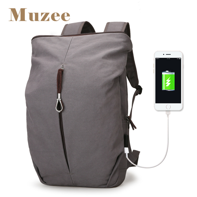 Muzee New Large Capacity Men Canvas Backpack Men Personality Fashion Bag Laptop Backpack Leisure Weekend Travel