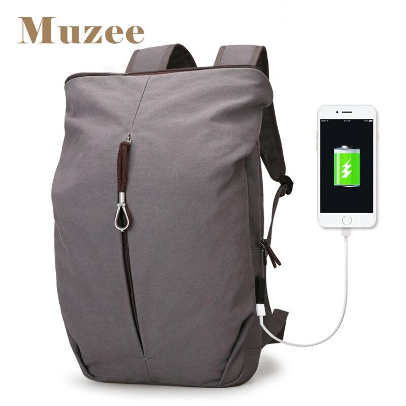 Muzee nouvelle grande capacité hommes toile sac à dos hommes personnalité mode sac sac à dos pour ordinateur portable loisirs week-end voyage sac