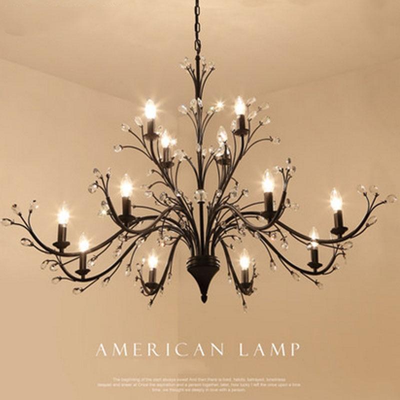 Z Nordic Crystal Pendant Light Bedroom Kitchen Lamps Crystal Pendant American LED Lighting Fixture Restaurant Crystal Pendant