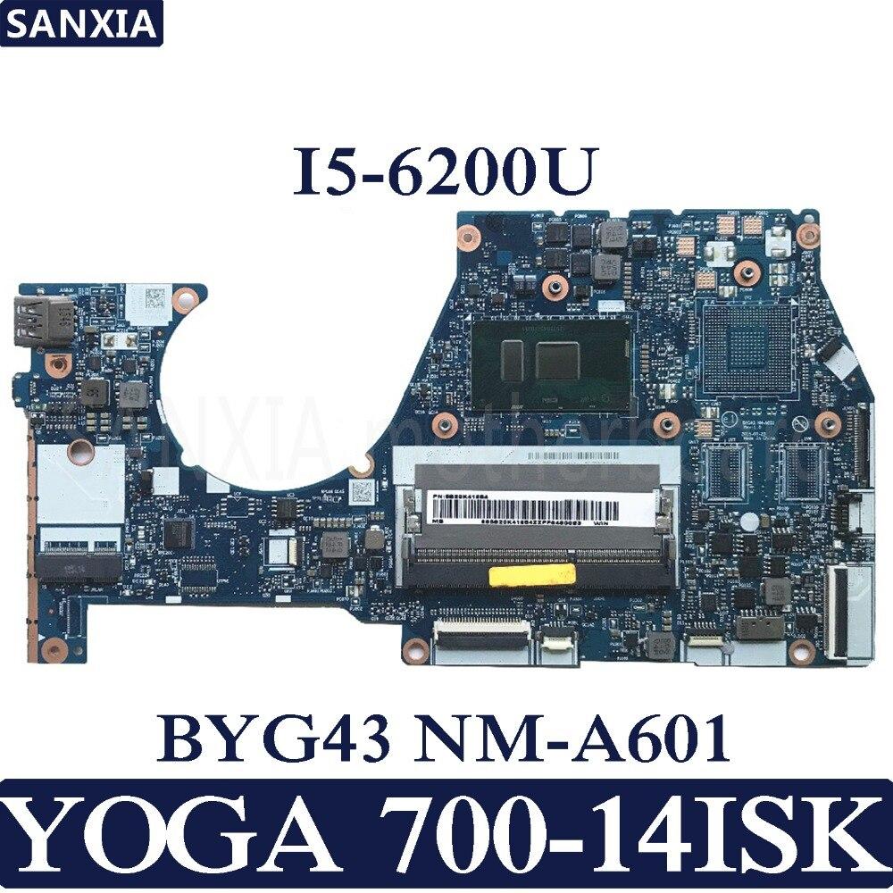 KEFU BYG43 NM A601 Laptop motherboard for Lenovo YOGA 700 14ISK Test original mainboard I5 6200U