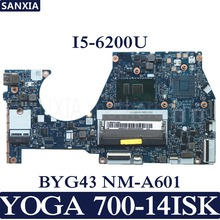 KEFU BYG43 NM-A601 Laptop motherboard for Lenovo YOGA 700-14ISK Test original mainboard I5-6200U