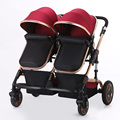 Baby Stroller for Twins Double Seats Lightweight Umbrella Stroller Folding Twin Stroller Baby Carriage Prams and Pushchairs
