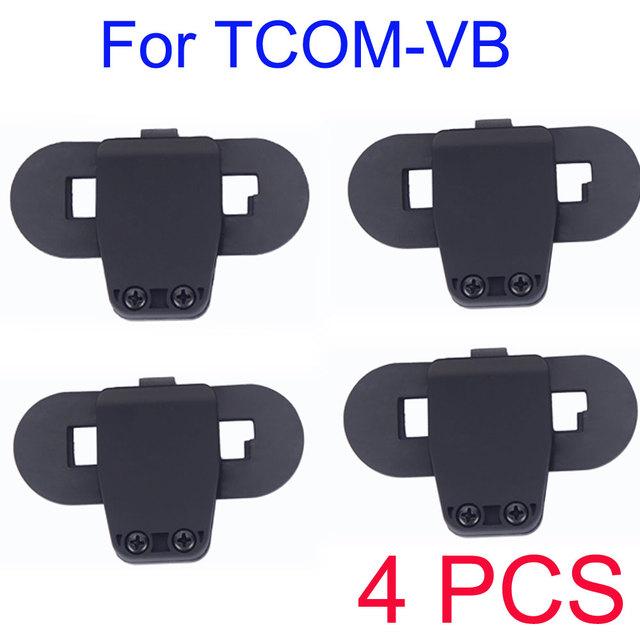 4 PCS clipe de acessórios para TCOM-VB / TCOM-SC Bluetooth à prova d ' água capacete Bluetooth BT interfone do Bluetooth motocicleta intercom