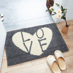 Image 5 - Paillasson dentrée dintérieur, tapis en poisson absorbant, motif de chat mignon, tapis pour pieds, porte Machine, cuisine, salle de bains