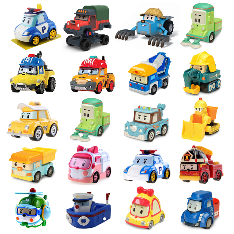 25 Style Robocar Poli Korea Kids Toys Robot Poli Roy Haley Anime Metal Action Figure Toys Car  For Children Best Gift