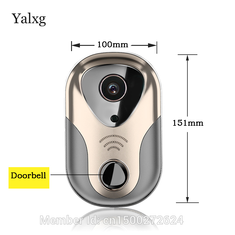 Yalxg P2P HD WiFi безопасности дома дверной Звонок ip Камера вызова вашего мобильного те ...
