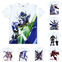 Coolprint Anime Shirt Mobile Suit Gundam Wing T Shirts Short Sleeve First Gundam RX 78 2