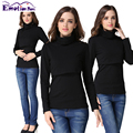 Emotion Moms Turtlenecks Maternity Clothes nursing top T-shirt for Pregnant Women casual Feeding Maternity Breastfeeding tops