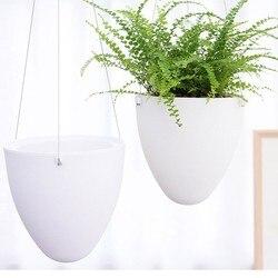 Mini branco preguiçoso vaso de flores plástico suculenta planta potes água pendurado rega jardim vasos plantadores decoração para casa