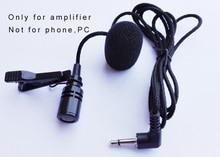 1 m/3ft metalen Revers tie Clip Op Revers Microfoon Mic Voor Voice Versterker Luidspreker Mike Met Helder geluid
