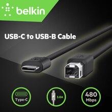 1.8 m Type-C Печати Кабель Belkin Оригинальный USB-C для USB-B Кабель Принтера для MacBook Pro для Сканера с Розничной пакет