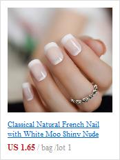 100 50 kits branco claro francês manicure