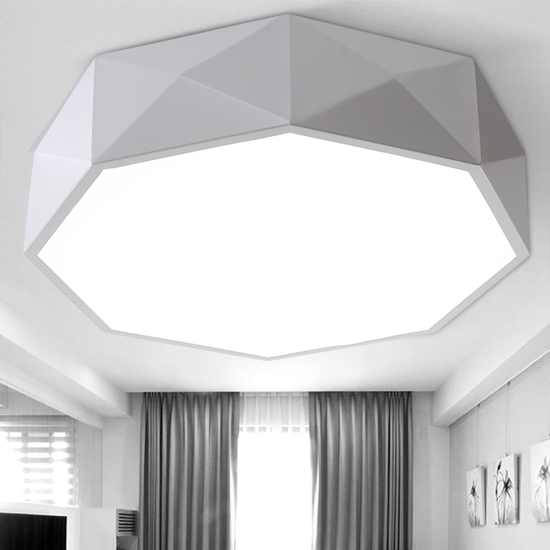 Lmpara de techo led blanco negro lamparas de techo marco de metal lmpara de techo led blanco negro lamparas de techo marco de metal con cubierta de acrlico dormitorio comedor iluminacin en las luces del techo de luces e aloadofball Gallery