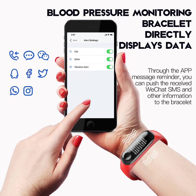 MNWT Watches Men Women Smart Digital Watch Fitness Sport Bracelet Wristband Heart Rate Monitor SMS Reminder For IOS Android