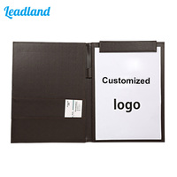 A4 File Folder Office PU Leather Folder Pad folio Multi function Organizer Planner Notebook Ring Binder 1448 Brown
