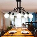 Superfície montada luz pingente Lâmpada do estilo americano de 5 cabeças pingente luzes da sala de estar quarto lâmpada do teto para o quarto de Hotel Do Clube