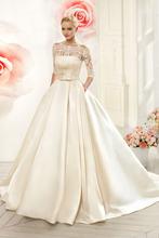 Robe de mariage новинка 2020 кружевные атласные платья модель