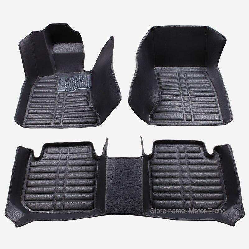 Custom fit car floor mats for Hyundai ix25 ix35 SantaFe Sonata Solaris Tucson verna 3D car