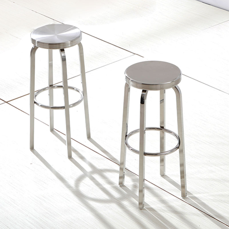 Outstanding Us 91 17 6 Off Modern Simple Stainless Steel Outdoors High Bar Stool Round Rotary Cashier Stool Cafe High Bar Stool In Bar Chairs From Furniture On Pabps2019 Chair Design Images Pabps2019Com