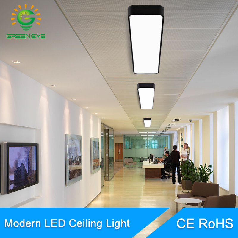 Modern Led Ceiling Light Lamp Lighting Fixture Rectangle Living Room Office Surface Mount Bedroom 220v 110v Panel Remote Control Ceiling Lights