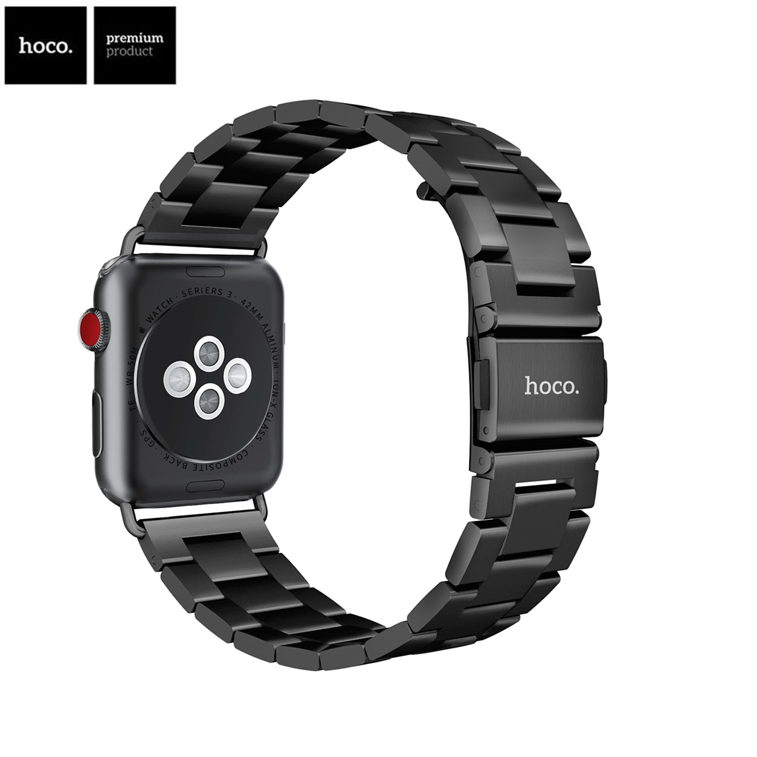 HOCO Brand Stainless Steel Strap for Apple Watch Band 42mm 38mm Replacement Belt Series 3 Series 2 Series 1 Bracelet Connector 42mm 38mm for apple watch s3 series 3