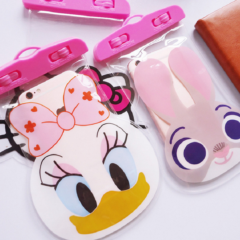 Hangrui Waterproof Case Cute Cartoon Underwater Phone Pouch Bag For iPhone 7 X 8 Plus 6 5 s For Samsung S9 S8 Redmi note5 P20