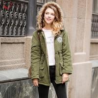 Winter Jacket Women Hooded Thick Warm Wool Liner Fur Collar Parkas Female 2018 New Solid Slim Long Wadded Coat Outwear Plus Size