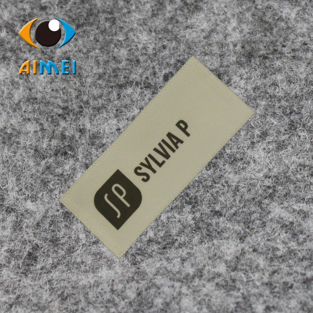 Whole Customize Polyester Ribbon Printed Labels Clothing Cotton Label Print