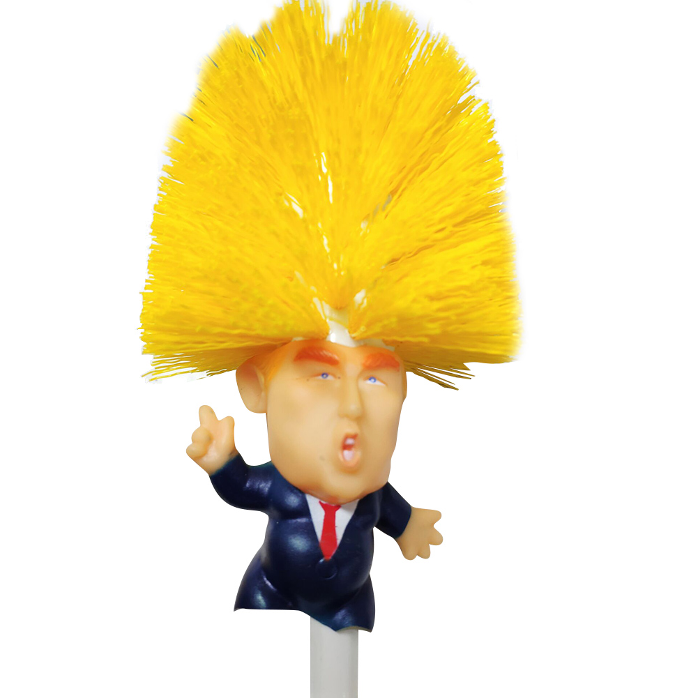Hot Donald Trump Toilet Brush Home Cleaning Tool Make Toilet Great Again MDD88