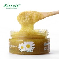 Kustie Smoothing Chamomile Body Scrub With Gentle Soft Plant Granules 200ml