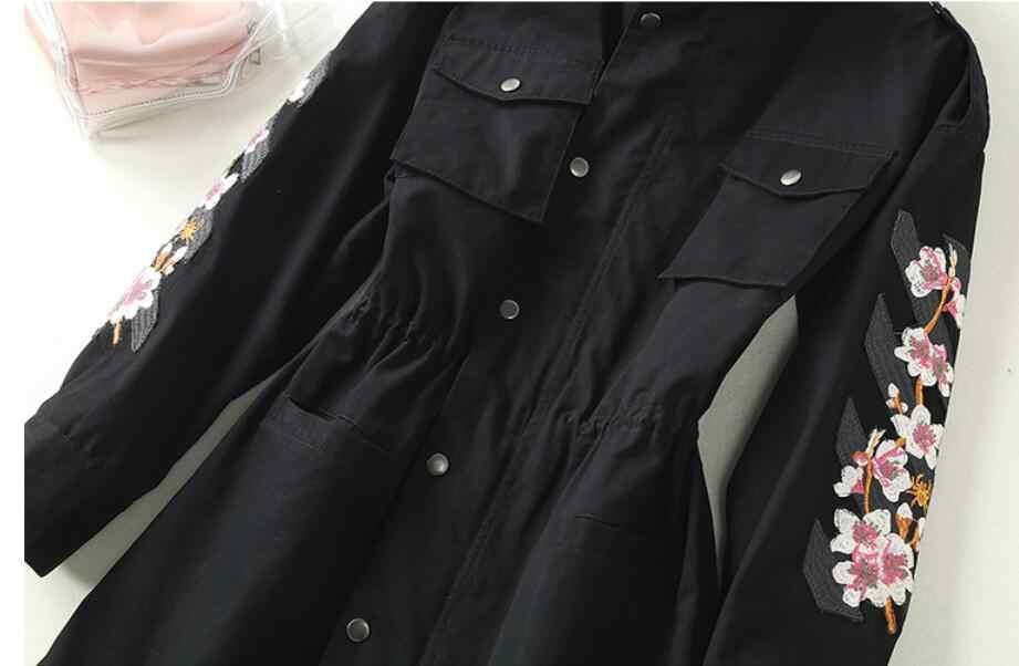 185f9a052b4 ... 2018 New Long Trench Coat Cape For Women UNIF Autumn Outfits Women s  Windbreaker Cardigan Overcoat Fashion ...