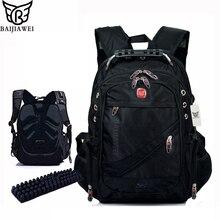 """Baijiawei 15 """"notebook computer laptop mochilas mochilas packsack mochila hombres bolsas de viaje ocasionales diseñador de la marca mochila escolar"""