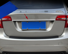 Stainless Steel Styling Car Trunk Trim Strip For Volvo S60 2011-2016 Exterior Tail Decorative Sequin Auto Accessories