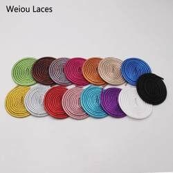 (30 пар/лот) Weiou Новый 4,5 мм Красочные округлые металлические эглеты Необычные виды спорта холст шнурков уникальный перламутровые веревки