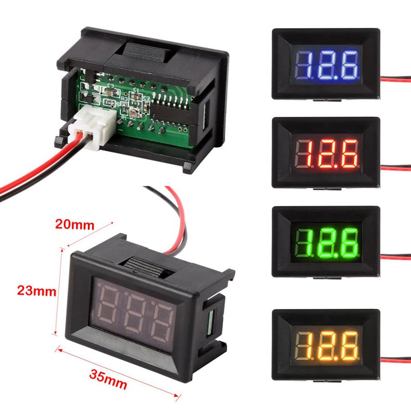 Digital Volt Meter : Voltmeter ammeter blue red led amp dual digital volt meter