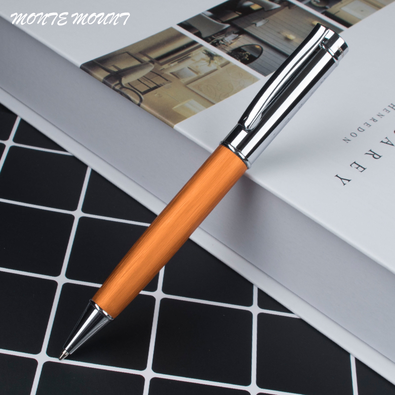 high quality Business Writing novelty ballpoint pens luxury Wooden and metal Oily pen ink black Refill Ballpoint Pen