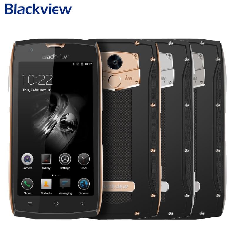 Origine Blackview BV7000 Cellulaire Téléphone IP68 Étanche RAM 2 GB ROM 16 GB MTK6737T Quad Core 5.0 pouce D'empreintes Digitales GPS Smartphone