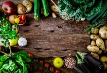 Laeacco Fresh Vegetables Harvest Delicious Boards Photography Background Customized Photographic Backdrops For Photo Studio