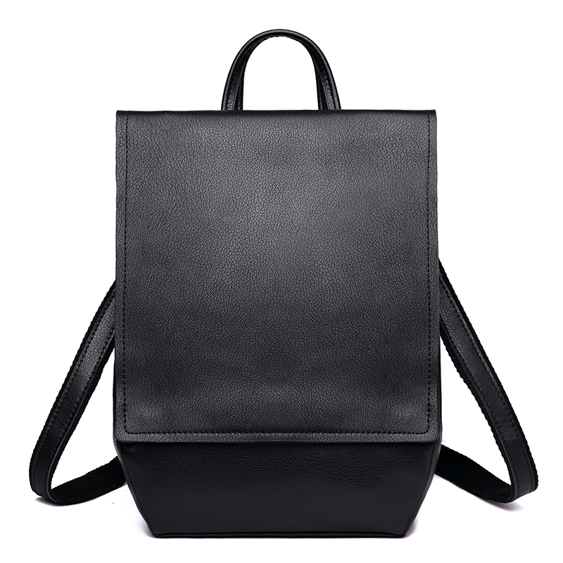 Genuine Cow Leather Vintage Casual Women's Backpacks Shoulder Bags Travel Back Pack For Women School Bags for Teenage Girls high quality women backpacks fashion pu leather shoulder bags vintage school bags for teenage girls casual travel bags laptop